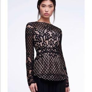 StyleStalker black lace 'Lani' blouse NWOT